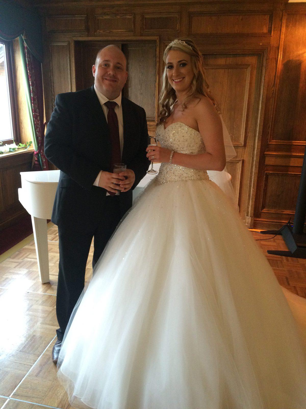 Mrs Berry with Mark The Piano Guy at Bredbury Hall