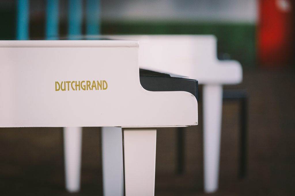 """Mark The Piano Guy performs exclusively on his """"Dutchgrand"""" piano"""